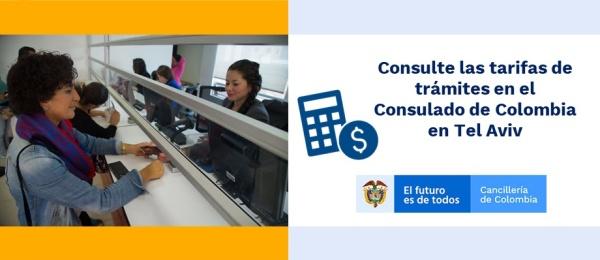 Consulte las tarifas de trámites en el Consulado de Colombia