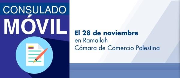 El Consulado de Colombia en Tel Aviv realizará el Consulado Móvil en Ramallah el 28 de noviembre