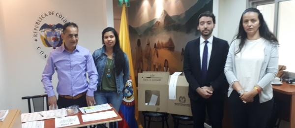 El Consulado de Colombia en Tel Aviv dio apertura oficial a elecciones en el exterior para Congreso de la República